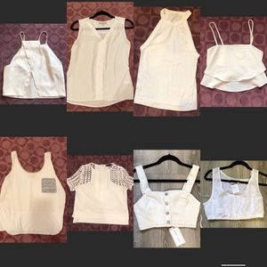 🎉BUNDLE🎉 White Spring/Summer TOPS Size S